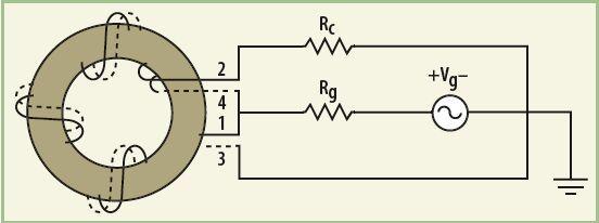 带宽带阻抗匹配的微波电路