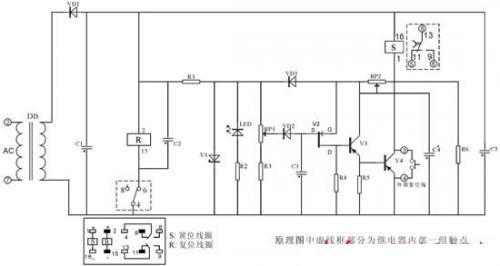 典型电路 断电延时继电器整体构成包括断电延时继电